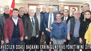 Akhisar Kahveciler odası başkanı Erkin Güney ve yönetimini ziyaret ettik!
