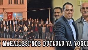 GÖCEK MAHALLESİ'NDE DUTLULU'YA YOĞUN İLGİ!