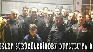 MOTOSİKLET SÜRÜCÜLERİNDEN DUTLULU'YA DESTEK