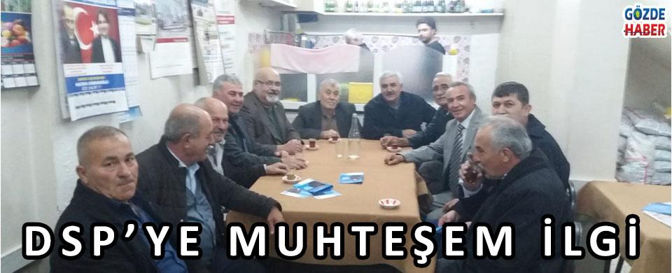 DSP'YE MUHTEŞEM İLGİ