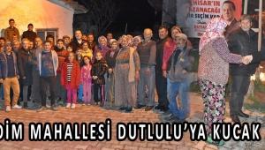 SEĞİRDİM MAHALLESİ DUTLULU'YA KUCAK AÇTI !