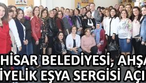 Akhisar Belediyesi, Ahşap Hediyelik Eşya Sergisi Açıldı !