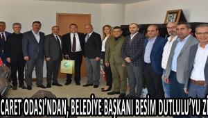 Akhisar Ticaret Odası'ndan, Belediye Başkanı Besim Dutlulu'yu ziyaret etti