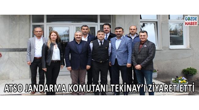 ATSO JANDARMA KOMUTANI TEKİNAY'I ZİYARET ETTİ