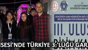 Fen Lisesi'nde Türkiye 3.'lüğü Garanti !