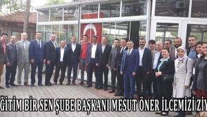 Manisa Eğitim Bir Sen Şube Başkanı Mesut Öner ilcemizi ziyret etti