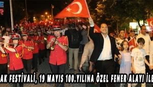 560.Çağlak Festivali, 19 Mayıs 100.yılına özel Fener Alayı ile başladı!