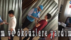 Akhisar ilçe Müftülüğü ve Türkiye Diyanet Vakfı Akhisar Şubesi, ihtiyaç sahibi aileler ile öksüz ve yetim öğrencilere giyim ve gıda yardımında bulundu.