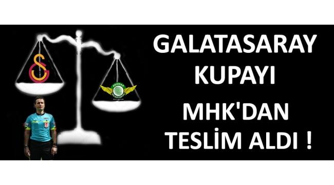 Galatasaray Kupayı MHK'dan Teslim Aldı !
