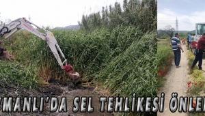 Süleymanlı'da Sel Tehlikesi Önleniyor