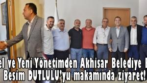 Akhisar Belediye Başkanımız Besim DUTLULU'yu makamında ziyaret ettiler.