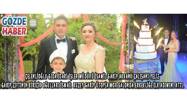 GARİP çiftinin biricik oğulları İsmail kuzey GARİP Ütopia mor salonda erkekliğe ilk adımını attı.