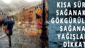 Kısa Süreli Sağanak ve Gökgürültülü Sağanak Yağışlara Dikkat!