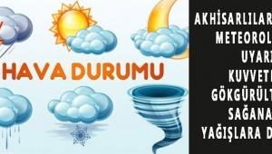 METEOROLOJİK UYARI Kuvvetli Gökgürültülü Sağanak Yağışlara Dikkat!