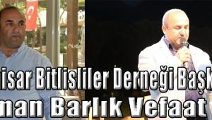 Akhisar Bitlisliler Derneği Başkanı Osman Barlık Vefat Etti !