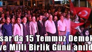 Akhisar'da 15 Temmuz Demokrasi ve Milli Birlik Günü anıldı