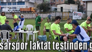 Akhisarspor laktat testinden geçti