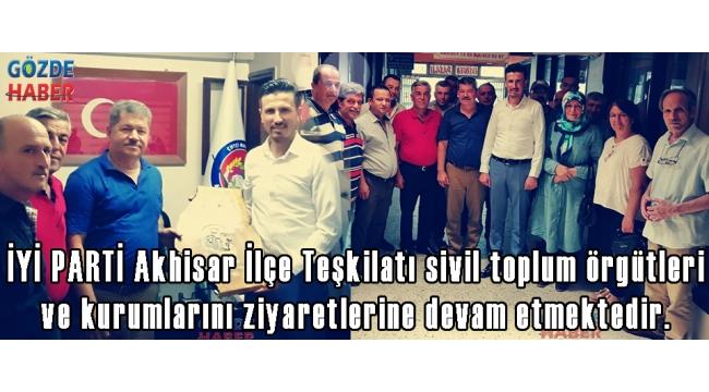 İYİ PARTİ Akhisar İlçe Teşkilatı sivil toplum örgütleri ve kurumlarını ziyaretlerine devam etmektedir.