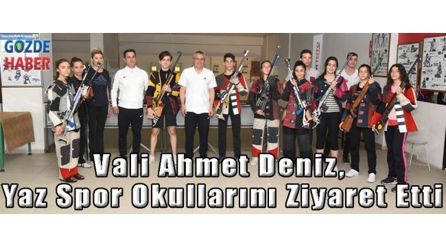 Vali Ahmet Deniz, Yaz Spor Okullarını Ziyaret Etti