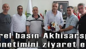 Yerel basın Akhisarspor Yönetimini ziyaret etti.