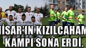 AKHİSAR'IN KIZILCAHAMAM KAMPI SONA ERDİ.