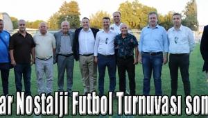 Akhisar Nostalji Futbol Turnuvası sona erdi