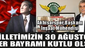 Başkan Eryüksel'den 30 Ağustos Zafer Bayramı Mesajı !