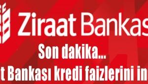 Son dakika... Ziraat Bankası kredi faizlerini indirdi