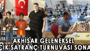Akhisar Geleneksel 27. Açık Satranç Turnuvası sona erdi