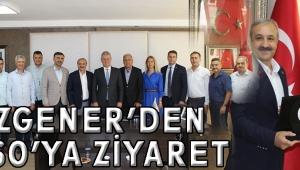 ÖZGENER'DEN ATSO'YA ZİYARET