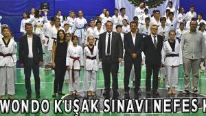 Taekwondo kuşak sınavı nefes kesti