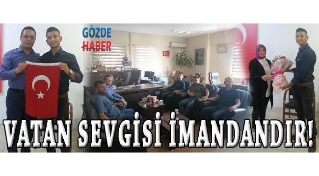 VATAN SEVGİSİ İMANDANDIR.