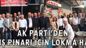 AK PARTİ'DEN BARIŞ PINARI İÇİN LOKMA HAYRI