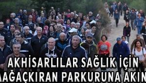 Akhisarlılar sağlık için Kabaağaçkıran parkuruna akın etti