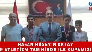Hasan Hüseyin OKTAY Akhisar atletizm tarihinde ilk kupamızı aldık.
