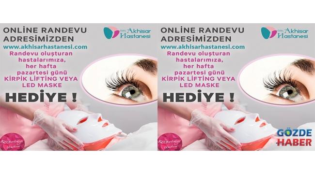 'Online Randevu ' adresinden randevu oluşturan hastalara ÇEKİLİŞ ile her pazartesi KİRPİK LİFTİNG veya LED MASKE hediye!