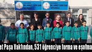 Sarı Ahmet Paşa Vakfından, 531 öğrenciye forma ve eşofman desteği