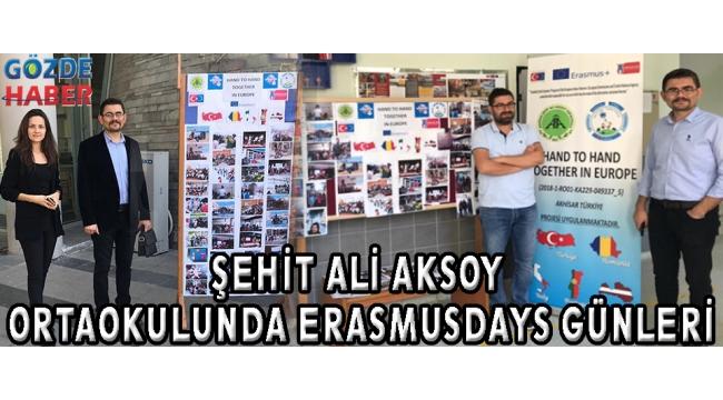 ŞEHİT ALİ AKSOY ORTAOKULUNDA ERASMUSDAYS GÜNLERİ