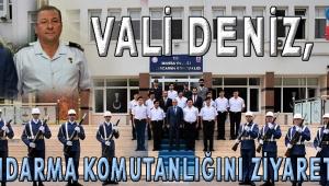 Vali Deniz, İl Jandarma Komutanlığını Ziyaret Etti