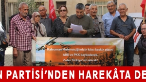VATAN PARTİSİ'NDEN HAREKÂTA DESTEK