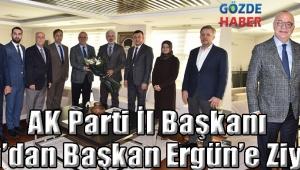 AK Parti İl Başkanı Hızlı'dan Başkan Ergün'e Ziyaret