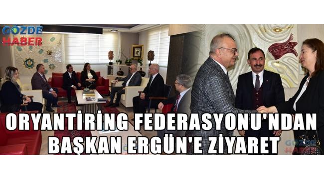 Oryantiring Federasyonu'ndan Başkan Ergün'e Ziyaret