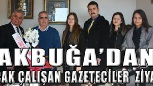 Akbuğa'dan 10 ocak çalışan gazeteciler ziyareti
