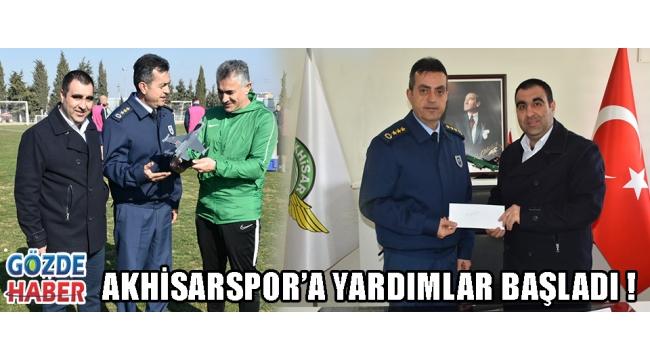Akhisarspor'a Yardımlar Başladı