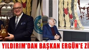 Binali Yıldırım'dan Başkan Ergün'e Ziyaret