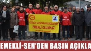 DİSK EMEKLİ-SEN'den basın açıklaması