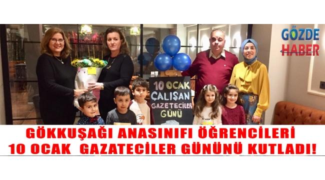 gökkuşağı anasınıfı öğrencileri 10 Ocak gazateciler gününü kutladı!