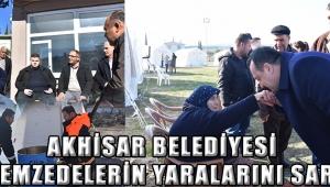 Akhisar Belediyesi depremzedelerin yaralarını sarıyor