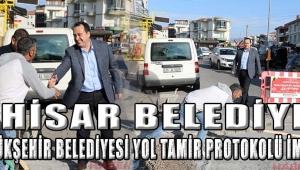 Akhisar Belediyesi ve Büyükşehir Belediyesi yol tamir protokolü imzaladı!