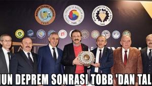 ATSO'nun DEPREM SONRASI TOBB 'dan TALEPLERİ